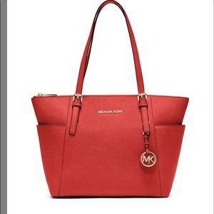 Michael Kors Jet Set Red Tote